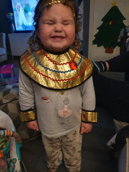 Emmie dressed up herself in these amazing clothes! Fab!