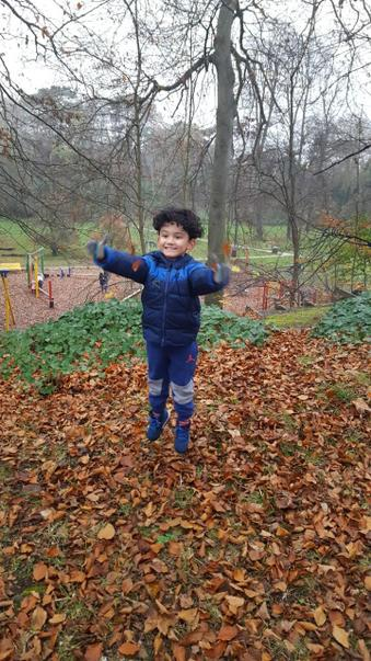 Junaid playing in the park