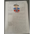 Ruben has worked really hard to think about his favorite parts of the poem!
