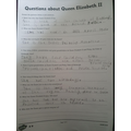 Lee has been working really hard to complete some reading comprehension!