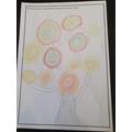 Clara's Kandinsky artwork using chalk!