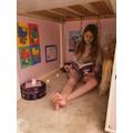 Check out Clara's secret reading den!