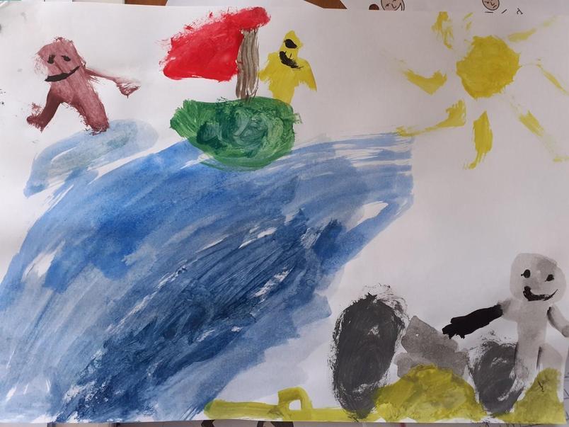 Zaccheus painted a seascape