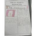 Read all about the Crown Jewels being stolen in Caitlyn's amazing newspaper!