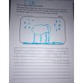 Riley's work on a polar bear's habitat.
