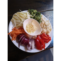 A food colour wheel by Piya made with vegetables