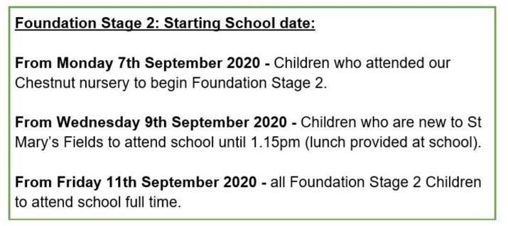 Start Dates for Rowan and Hawthorn Classes