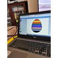 A computer designed Easter egg.