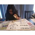 Piya's been practising henna artwork