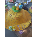 He's also made an Easter hat,