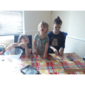 These girls have been playing with some salt dough