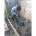 Liam's been metal detecting in his back garden!