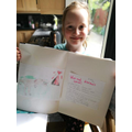 Emily has had a go at the dinosaur project