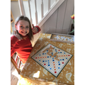 Katie's been learning new words playing scrabble