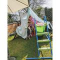 She also made a fairy garden den...