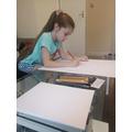 Vanessa's been completing her Kandinsky art