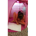 I am writing in my tent!