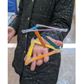 Mia made a 'floating' tensegrity structure