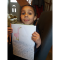Look at my super writing!