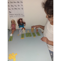 Using my toys to learn to order numbers!