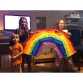 The Davison family also made a rainbow!