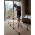 Toby making a 3D shape