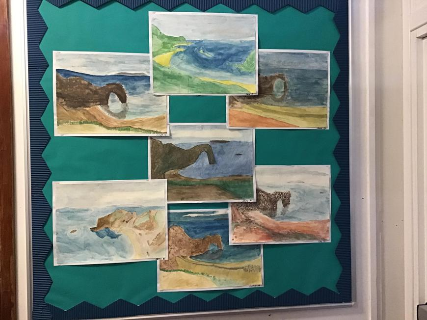 Year 6 have create some beautiful landscapes.