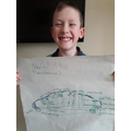 George's design for a 'green' car.