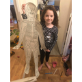 Jessie and her skeleton!