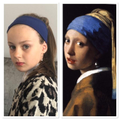 Gracie recreated 'Girl With A Pearl Earring'