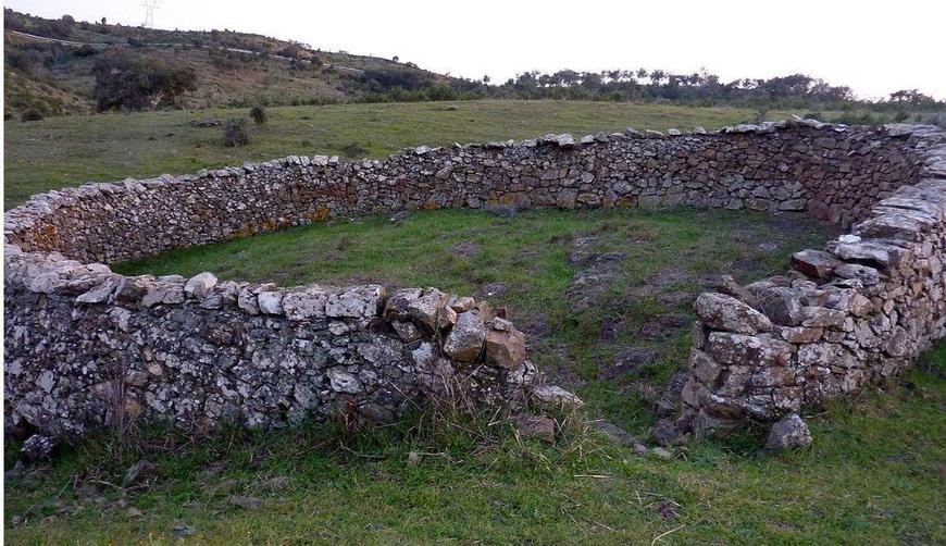 A traditional stone sheep fold.
