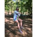 Brooke on a rope swing.