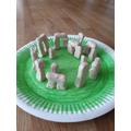 Ruby's model of Stonehenge.