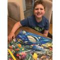 Benjamin's shark jigsaw.