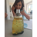 Amber made a lava lamp.