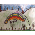 Luca's NHS rainbow poster