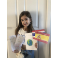 Skye has been learning about different countries.