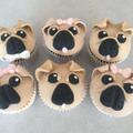 Amber made some pug cupcakes.
