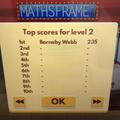 Barnaby's maths score.