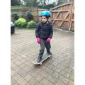 Ethan skateboarding