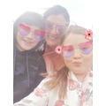 Summer with her mum and brother.