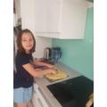 Jessica baking. Look's great!