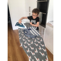 Benjamin helping out around the house!