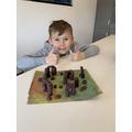 Hayden made a model of Stonehenge