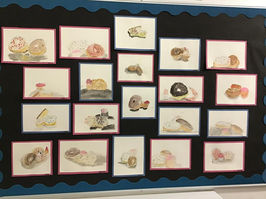 Year 3 captured still life with food, brilliantly.
