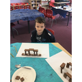 Jack's Stone Age structure from biscuits