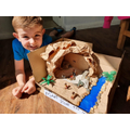 Dylan made a Stone Age settlement.