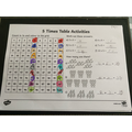 Evan's times table work