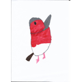 Ethan's drawing of a bird.