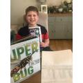 Benjamin has been doing lots of reading.